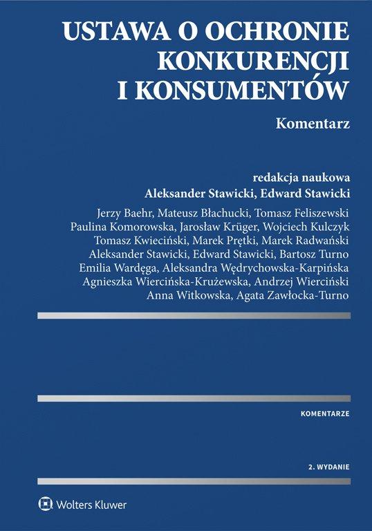 Ustawa o ochronie konkurencji i konsumentów. Komentarz - Ebook (Książka EPUB) do pobrania w formacie EPUB