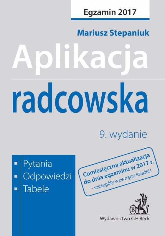 Aplikacja radcowska. Pytania odpowiedzi tabele - Ebook (Książka PDF) do pobrania w formacie PDF