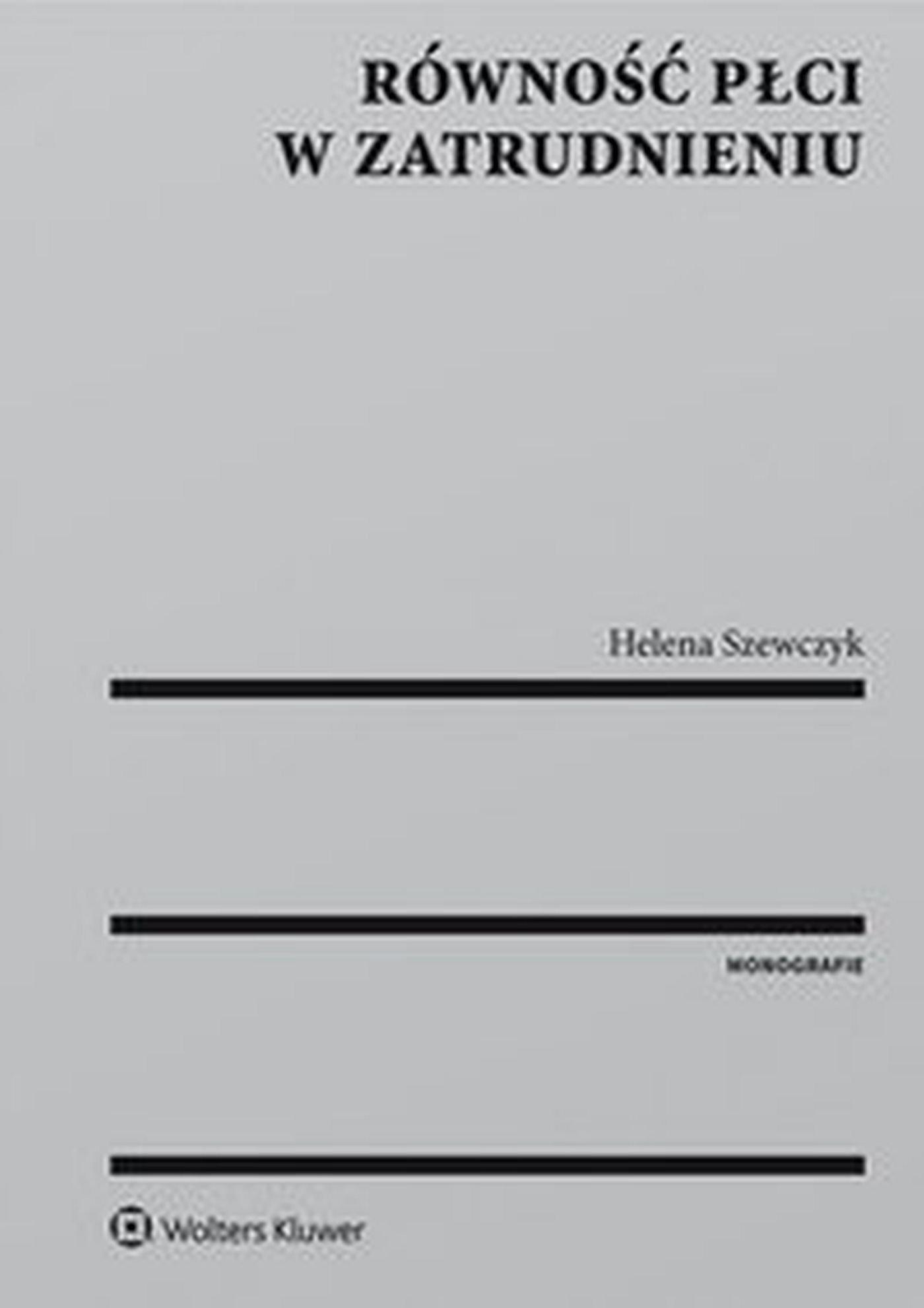 Równość płci w zatrudnieniu - Ebook (Książka EPUB) do pobrania w formacie EPUB