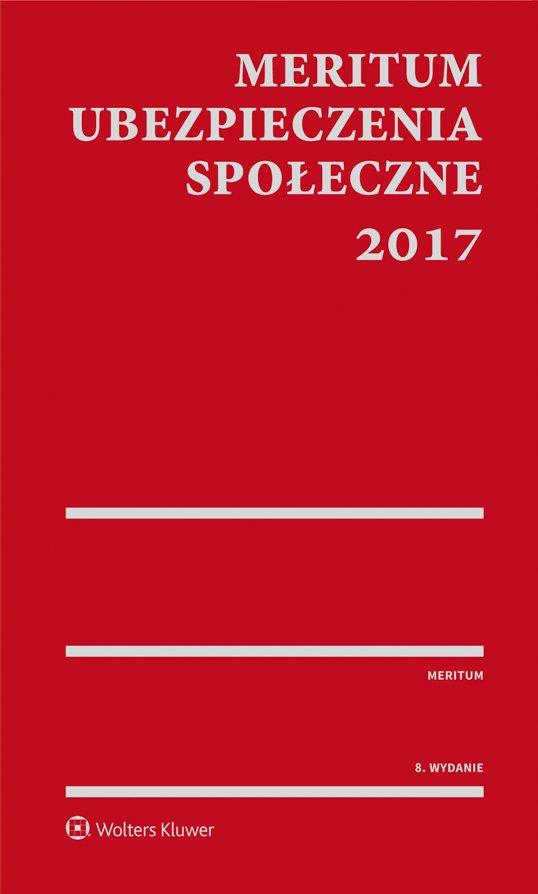 MERITUM Ubezpieczenia społeczne 2017 - Ebook (Książka PDF) do pobrania w formacie PDF