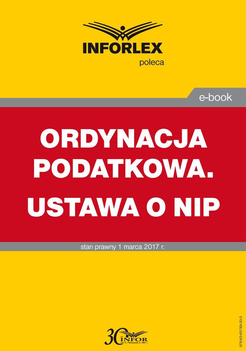 Ordynacja podatkowa.Ustawa o NIP - Ebook (Książka PDF) do pobrania w formacie PDF