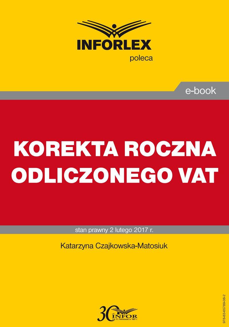 Korekta roczna odliczonego VAT - Ebook (Książka PDF) do pobrania w formacie PDF