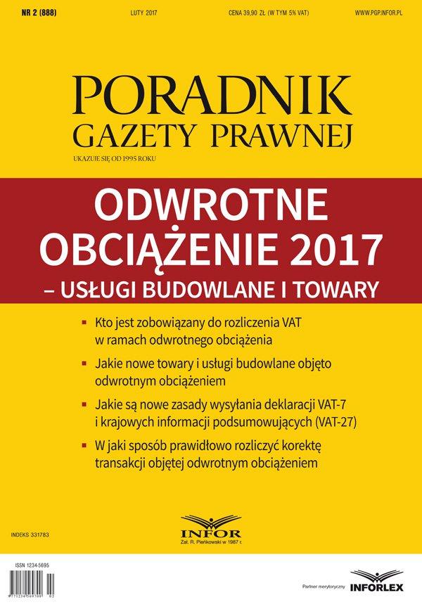 Odwrotne obciążenie 2017 – usługi budowlane i towar - Ebook (Książka PDF) do pobrania w formacie PDF