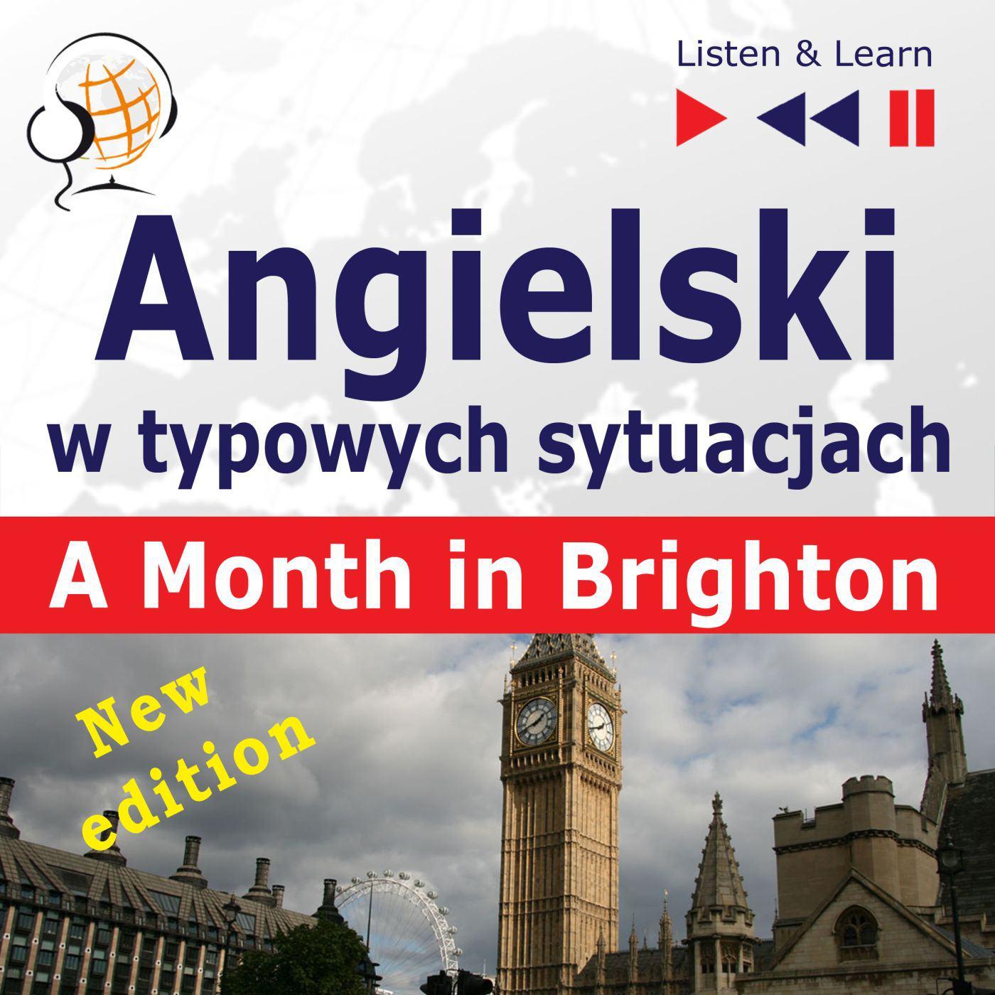 Angielski w typowych sytuacjach. A Month in Brighton – New Edition - Audiobook (Książka audio MP3) do pobrania w całości w archiwum ZIP
