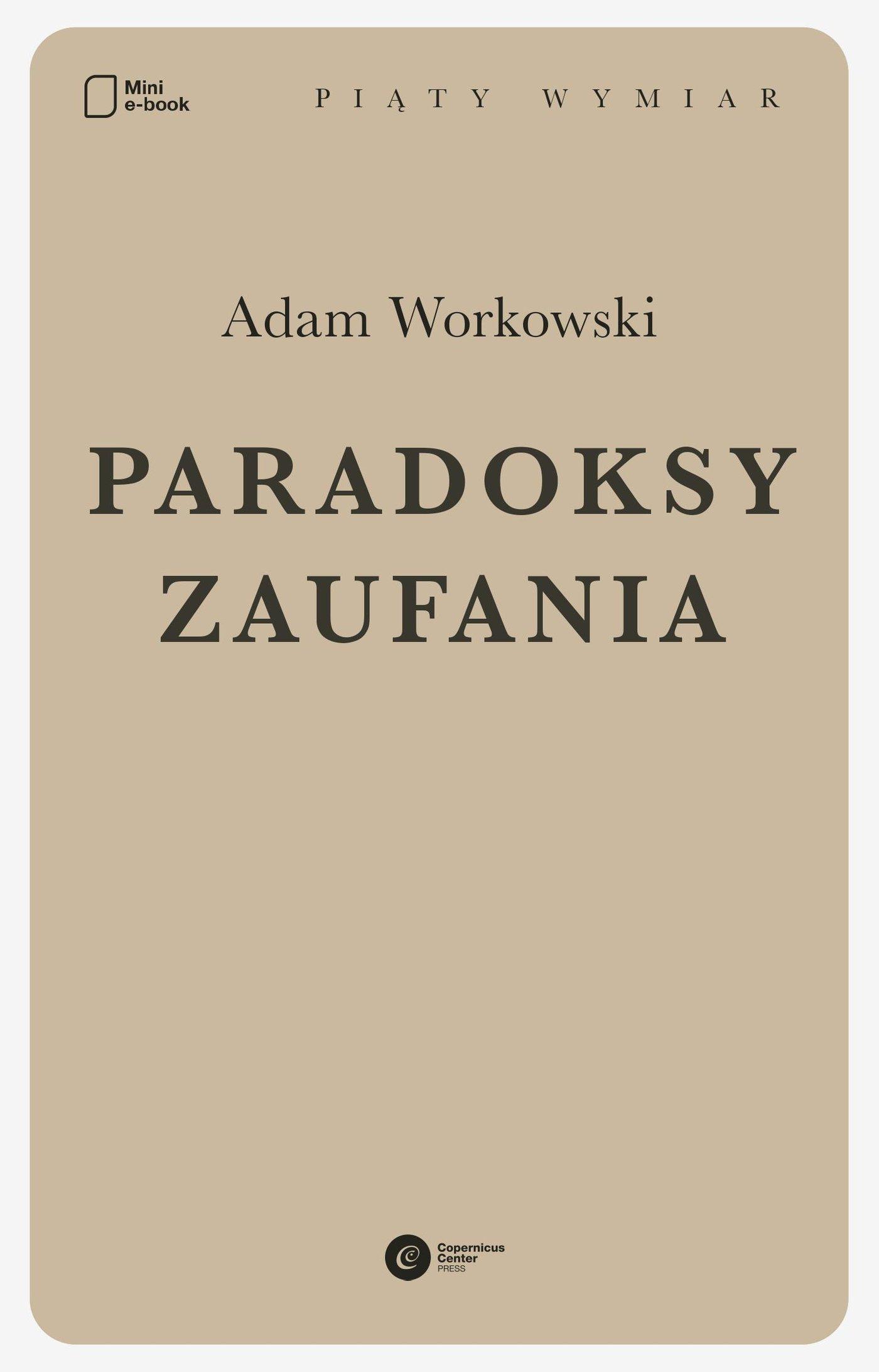 Paradoksy zaufania - Ebook (Książka EPUB) do pobrania w formacie EPUB