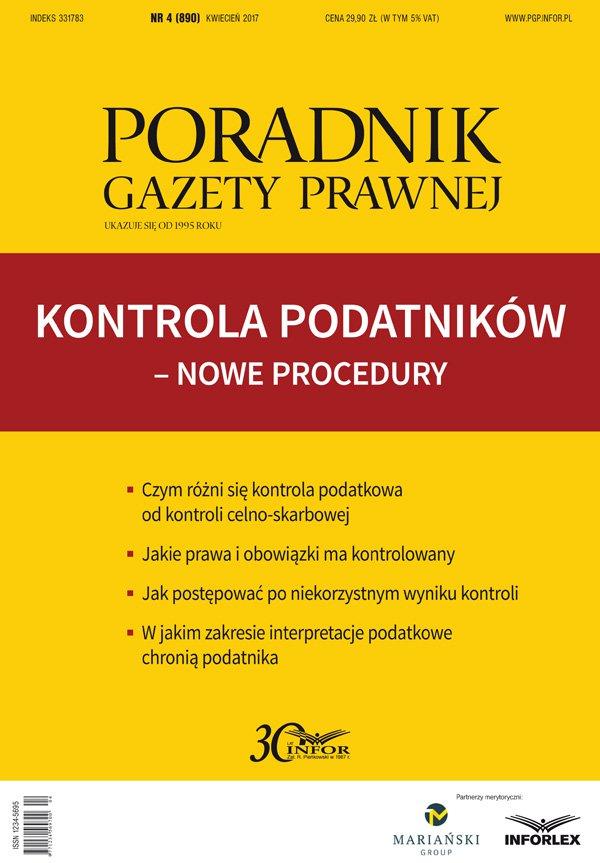 Kontrola podatników – nowe procedury - Ebook (Książka PDF) do pobrania w formacie PDF