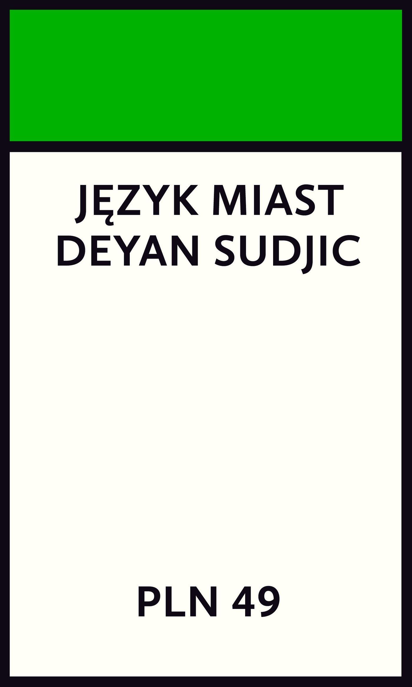 Język miast - Ebook (Książka EPUB) do pobrania w formacie EPUB