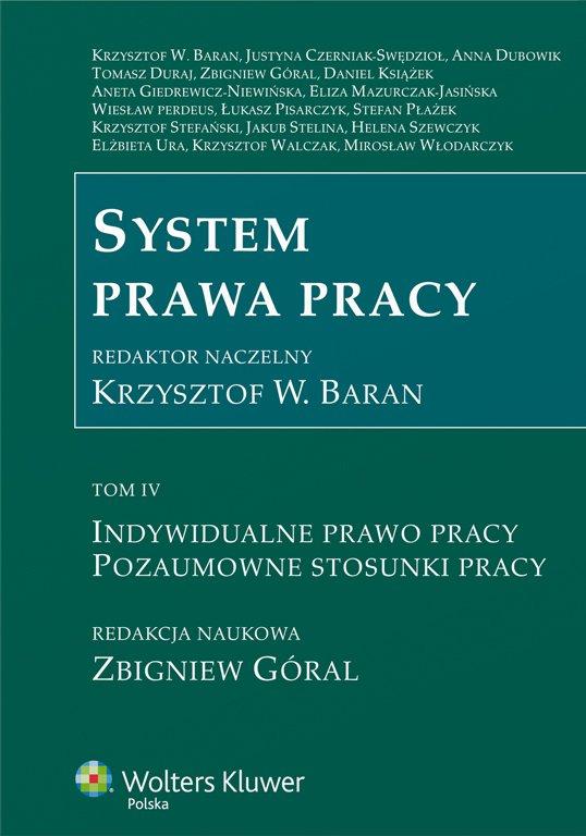 System prawa pracy. TOM IV. Indywidualne prawo pracy. Pozaumowne stosunki pracy - Ebook (Książka PDF) do pobrania w formacie PDF