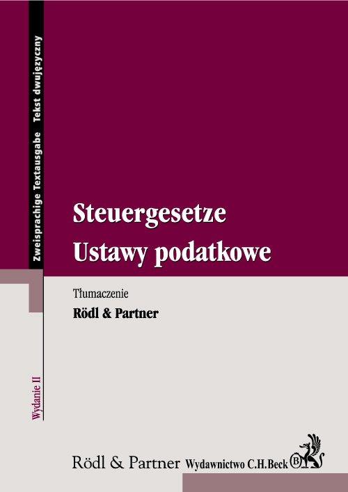 Ustawy podatkowe. Steuergesetze - Ebook (Książka PDF) do pobrania w formacie PDF