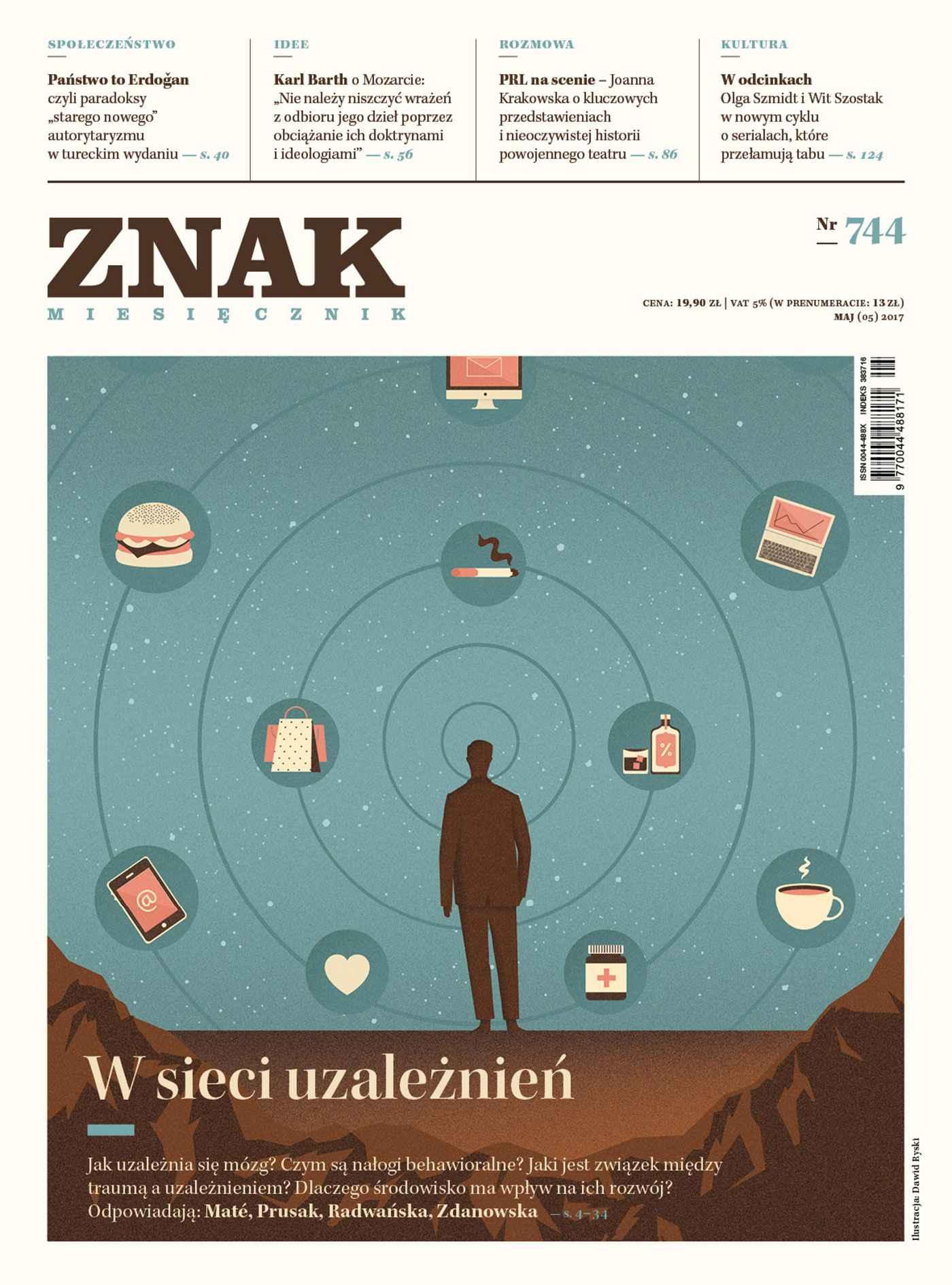 Miesięcznik Znak nr 744: W sieci uzależnień - Ebook (Książka EPUB) do pobrania w formacie EPUB