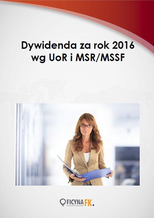 Dywidenda za rok 2016 wg UoR i MSR/MSSF - Ebook (Książka PDF) do pobrania w formacie PDF