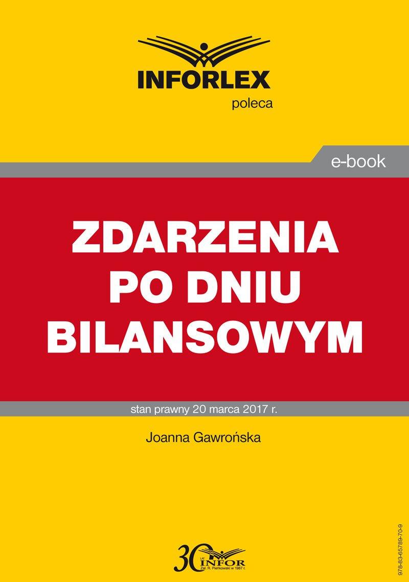Zdarzenia po dniu bilansowym - Ebook (Książka PDF) do pobrania w formacie PDF