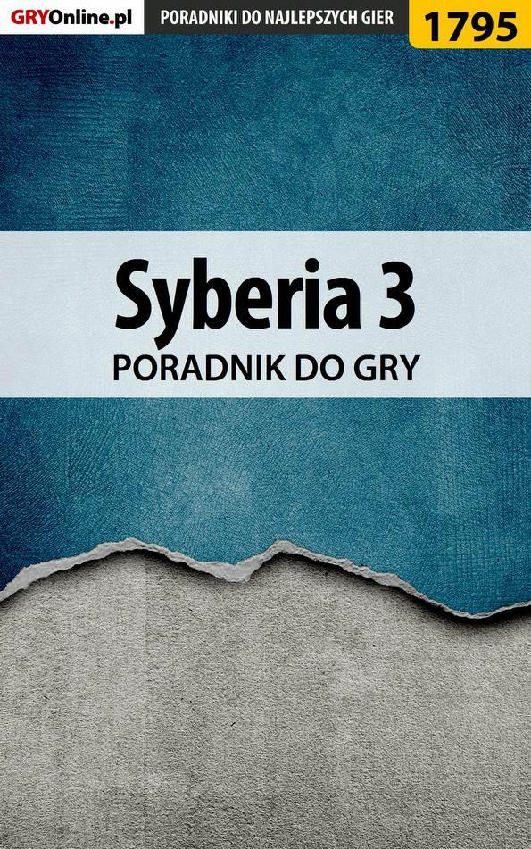 Syberia 3 - poradnik do gry - Ebook (Książka EPUB) do pobrania w formacie EPUB
