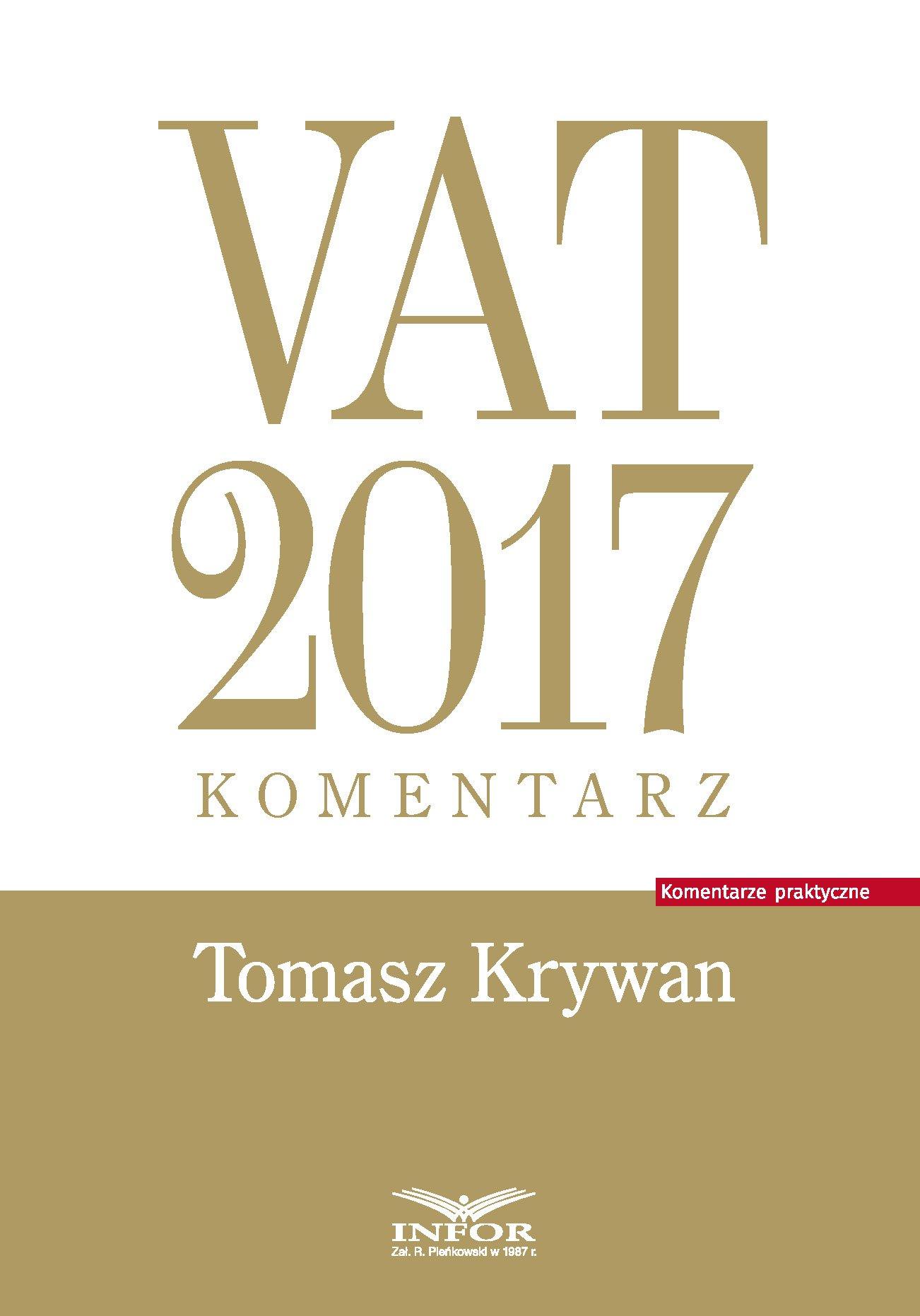 VAT 2017. Komentarz - Ebook (Książka EPUB) do pobrania w formacie EPUB