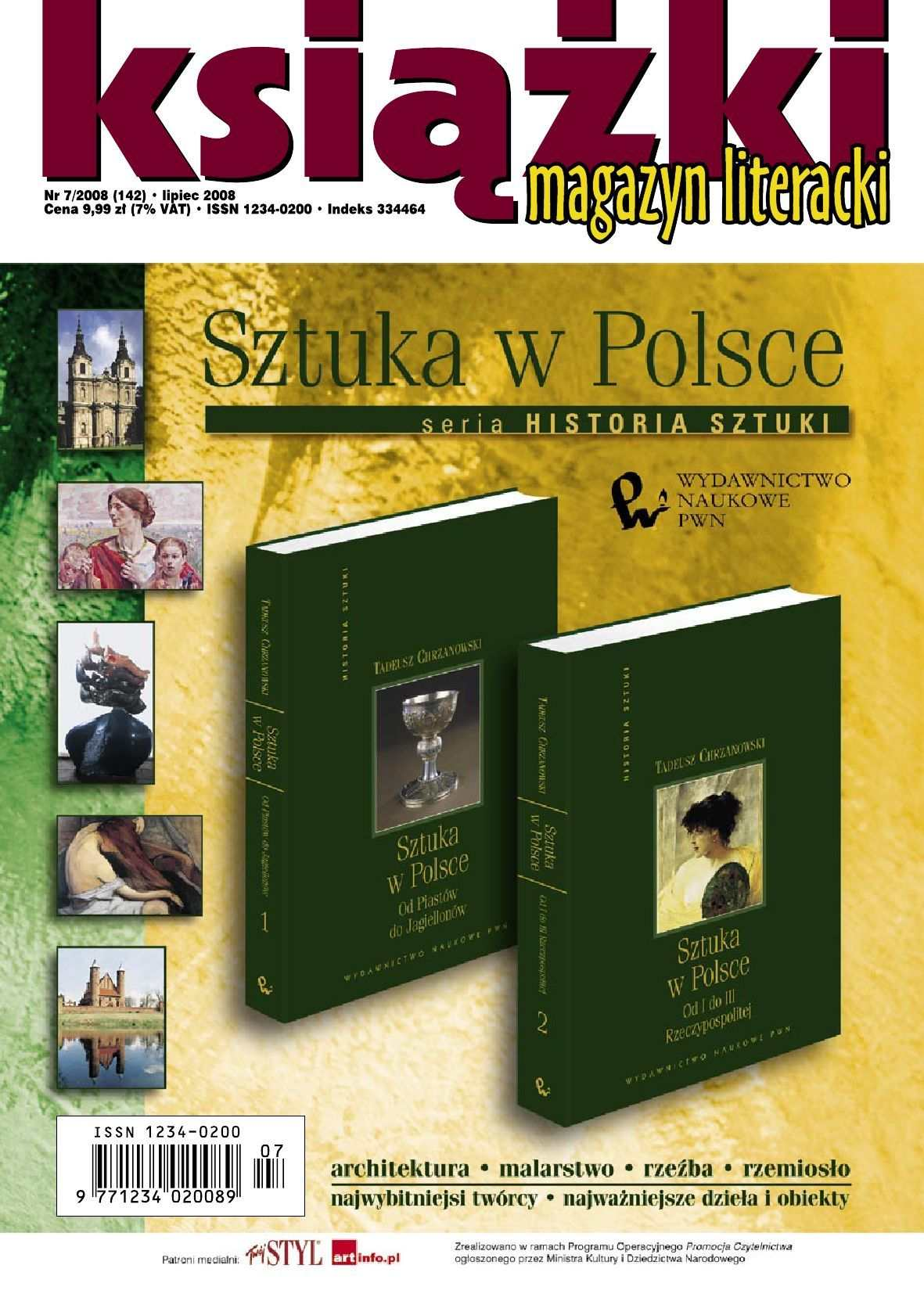 Magazyn Literacki KSIĄŻKI - Nr 7/2008 (142) - Ebook (Książka PDF) do pobrania w formacie PDF