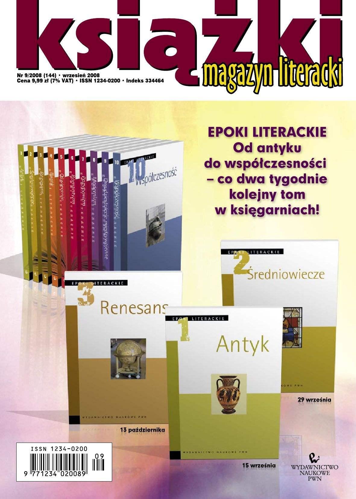 Magazyn Literacki KSIĄŻKI - Nr 9/2008 (144) - Ebook (Książka PDF) do pobrania w formacie PDF