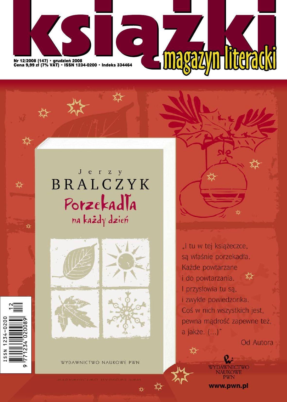 Magazyn Literacki KSIĄŻKI - Nr 12/2008 (147) - Ebook (Książka PDF) do pobrania w formacie PDF