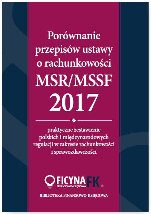 Porównanie przepisów ustawy o rachunkowości i MSR/MSSF 2017 - Ebook (Książka PDF) do pobrania w formacie PDF
