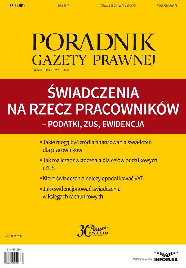 Świadczenia na rzecz pracowników – podatki, ZUS, ewidencja - Ebook (Książka PDF) do pobrania w formacie PDF