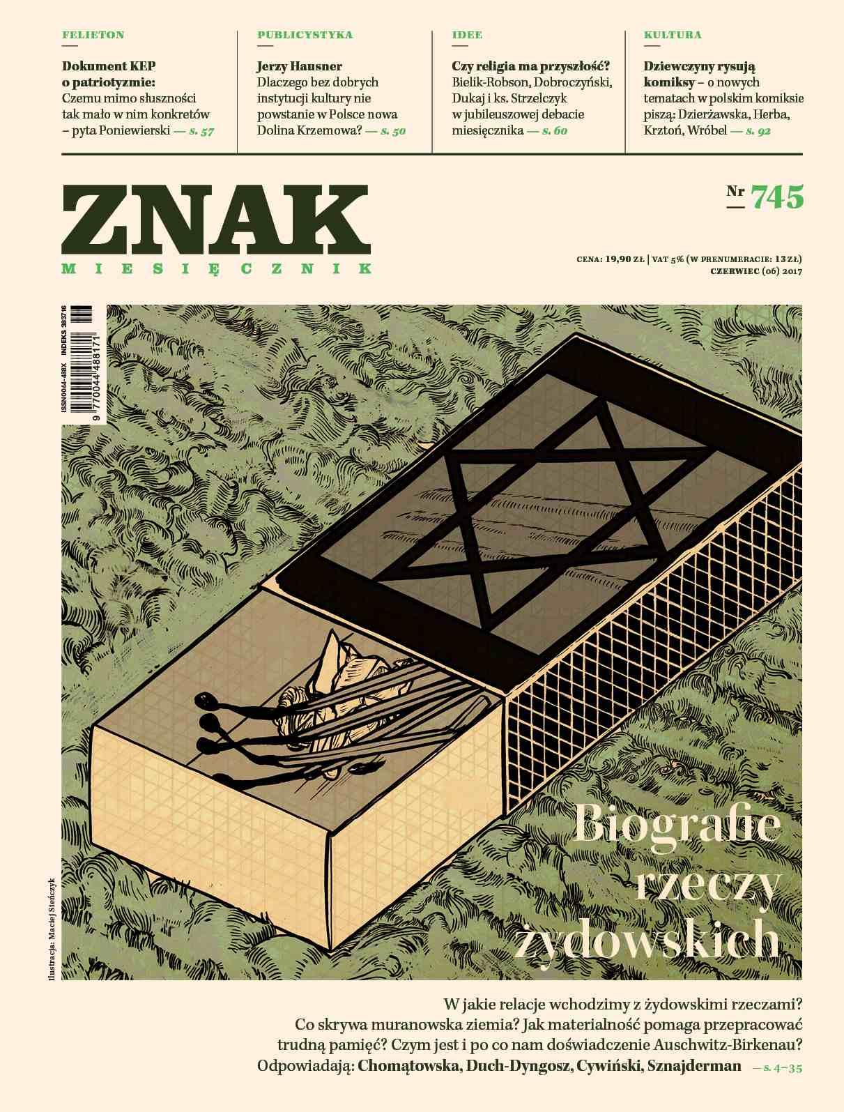 Miesięcznik Znak nr 745: Biografie rzeczy żydowskich - Ebook (Książka EPUB) do pobrania w formacie EPUB