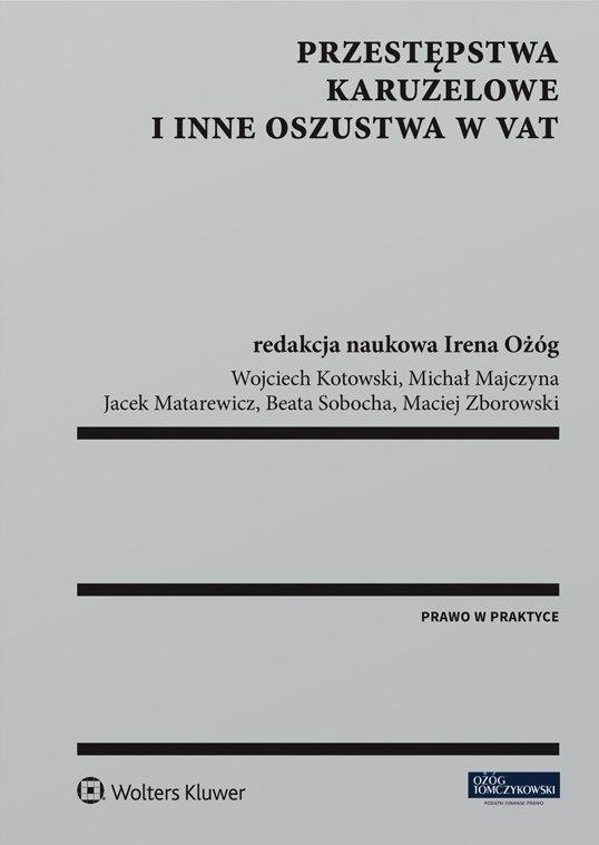 Przestępstwa karuzelowe i inne oszustwa w VAT - Ebook (Książka EPUB) do pobrania w formacie EPUB