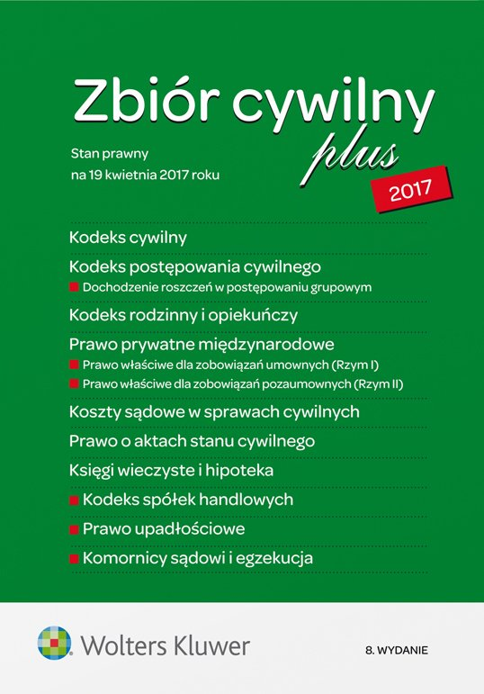 Kodeks cywilny 2017 PLUS - zbiór przepisów - Ebook (Książka PDF) do pobrania w formacie PDF