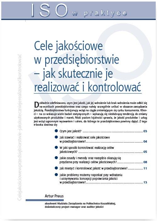 Cele jakościowe w przedsiębiorstwie – jak skutecznie je realizować i kontrolować - Ebook (Książka PDF) do pobrania w formacie PDF