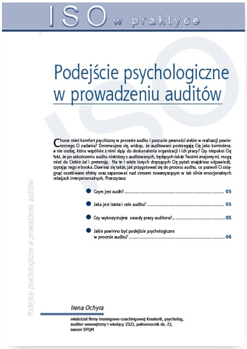 Podejście psychologiczne w prowadzeniu auditów - Ebook (Książka PDF) do pobrania w formacie PDF
