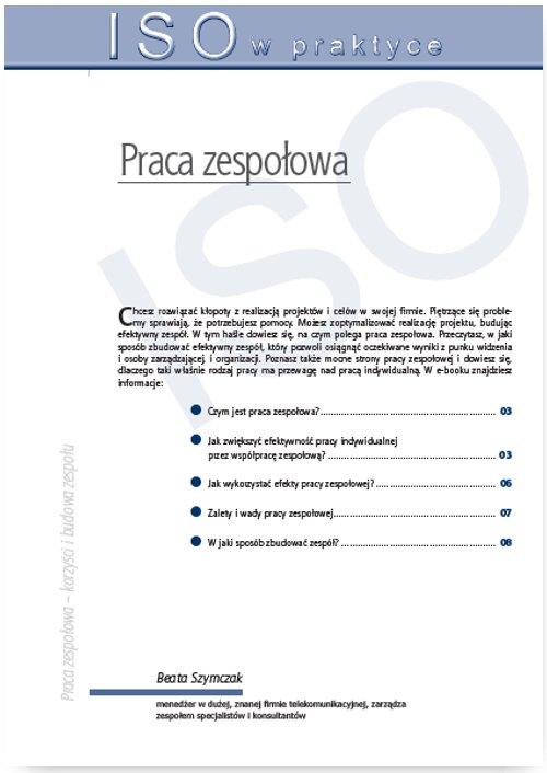Praca zespołowa – tworzenie, formy działania, korzyści i budowa zespołu - Ebook (Książka PDF) do pobrania w formacie PDF