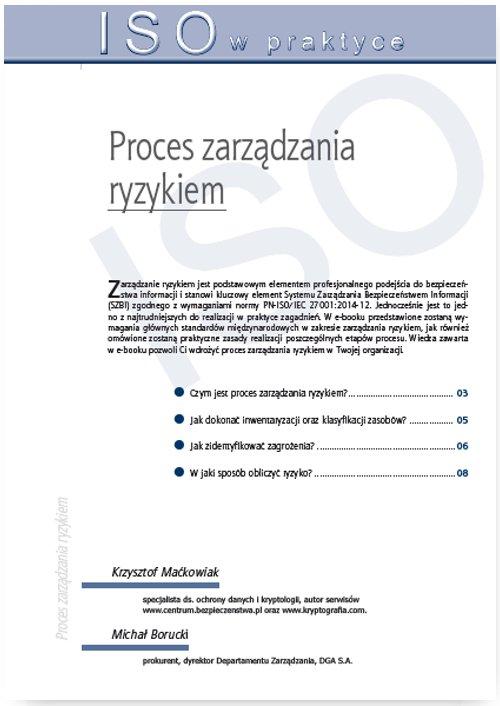 Proces zarządzania ryzykiem - Ebook (Książka PDF) do pobrania w formacie PDF