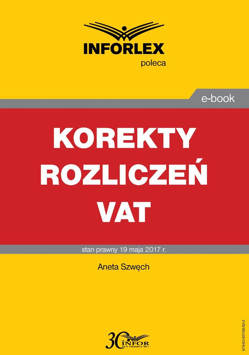 Korekty rozliczeń VAT - Ebook (Książka PDF) do pobrania w formacie PDF