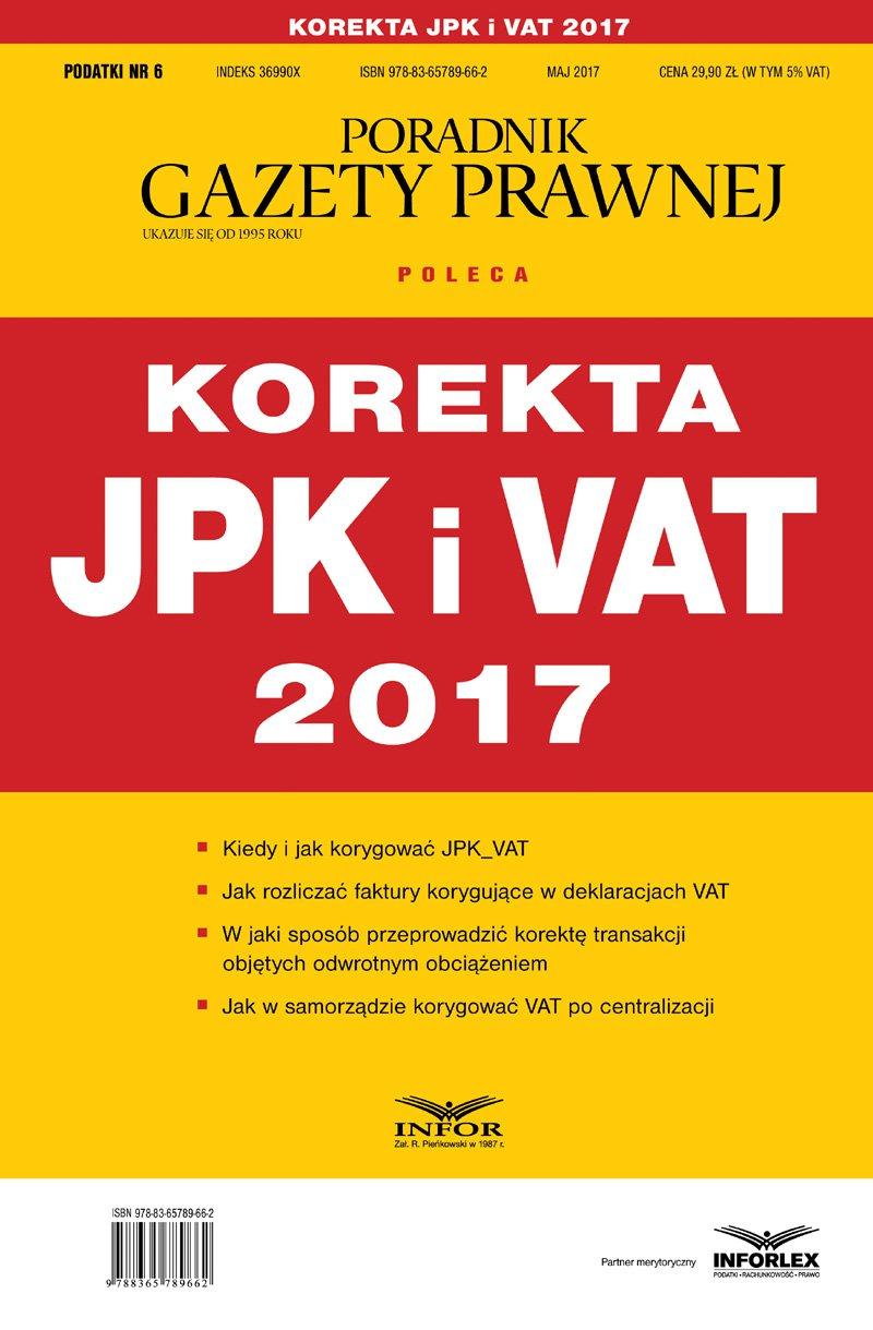 Korekta JPK i VAT 2017 - Ebook (Książka PDF) do pobrania w formacie PDF