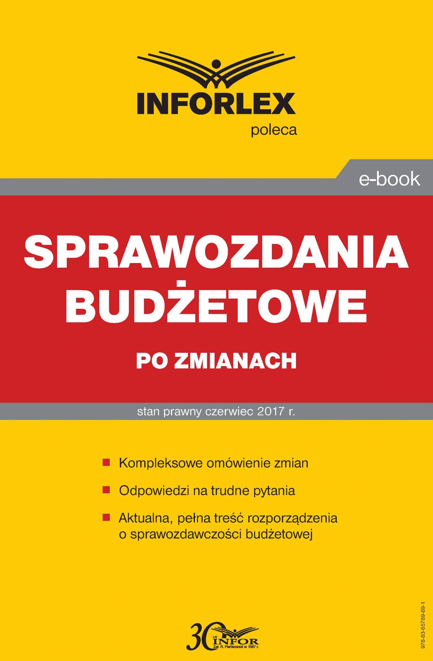 Sprawozdania budżetowe po zmianach - Ebook (Książka PDF) do pobrania w formacie PDF