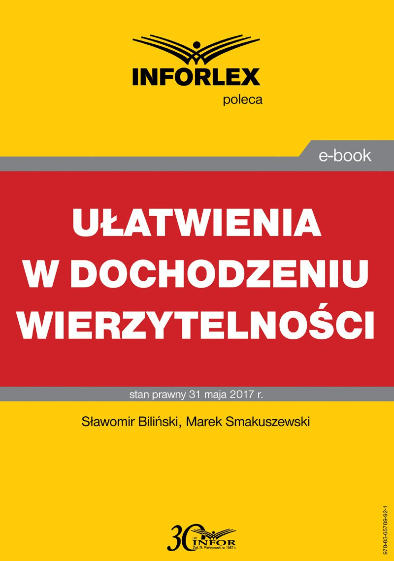Ułatwienia w dochodzeniu wierzytelności - Ebook (Książka PDF) do pobrania w formacie PDF