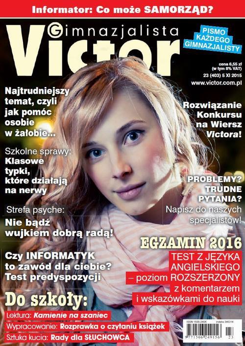 Victor Gimnazjalista nr 23 (403) - Ebook (Książka PDF) do pobrania w formacie PDF