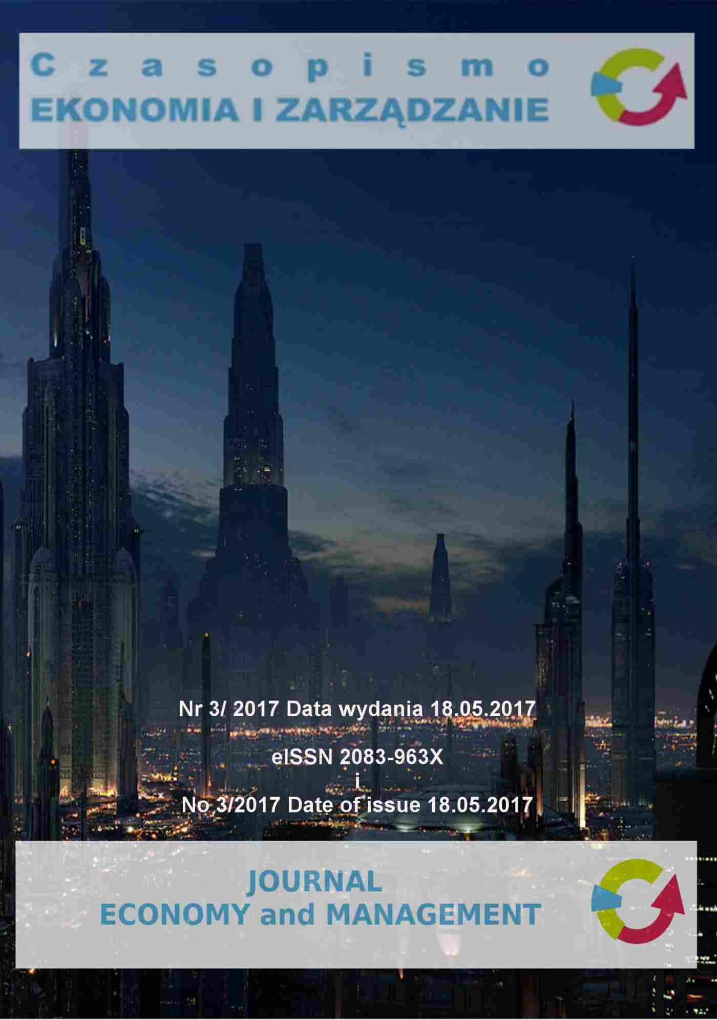 Czasopismo Ekonomia i Zarządzanie nr 3/2017 - Ebook (Książka PDF) do pobrania w formacie PDF