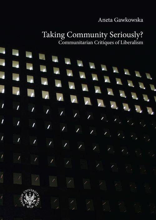 Taking Community Seriously? Communitarian Critiques of Liberalism - Ebook (Książka PDF) do pobrania w formacie PDF