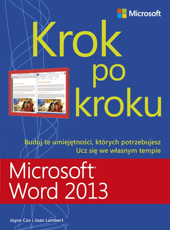 Microsoft Word 2013 Krok po kroku - Ebook (Książka PDF) do pobrania w formacie PDF