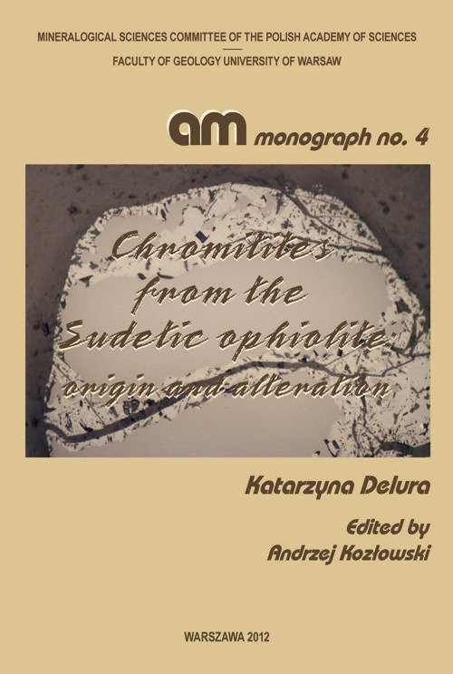 Chromitites from the Sudetic ophiolite : origin and alteration - Ebook (Książka PDF) do pobrania w formacie PDF