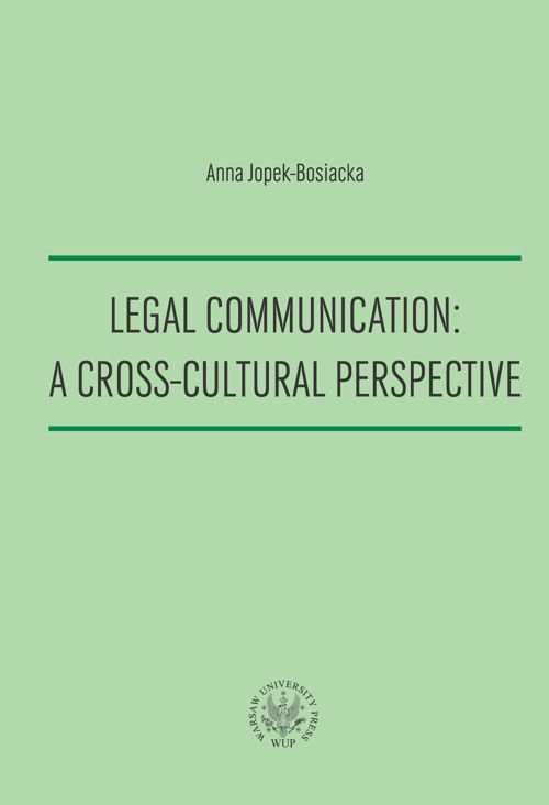 Legal Communication : A Cross-Cultural Perspective - Ebook (Książka PDF) do pobrania w formacie PDF