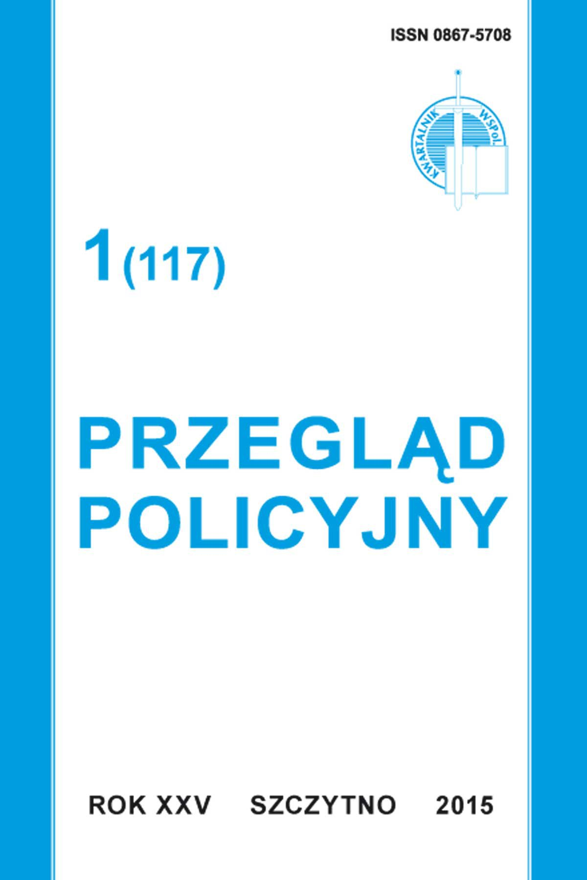 Przegląd Policyjny, nr 1(117) 2015 - Ebook (Książka PDF) do pobrania w formacie PDF
