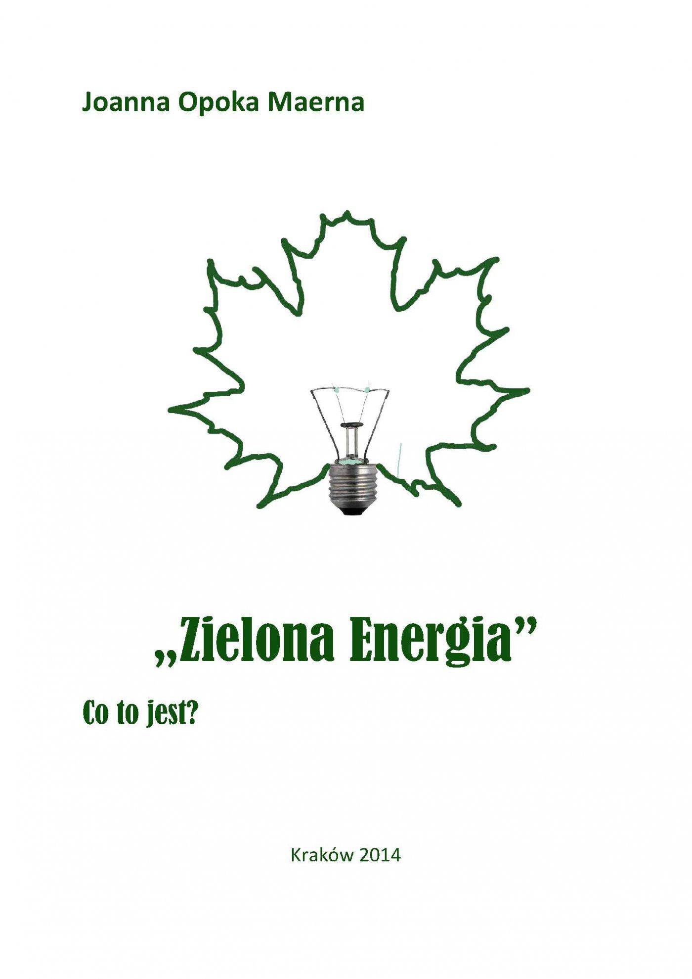 Zielona energia - Ebook (Książka PDF) do pobrania w formacie PDF