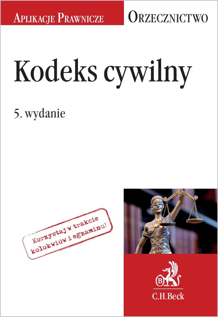 Kodeks cywilny. Orzecznictwo Aplikanta. Wydanie 5 - Ebook (Książka PDF) do pobrania w formacie PDF
