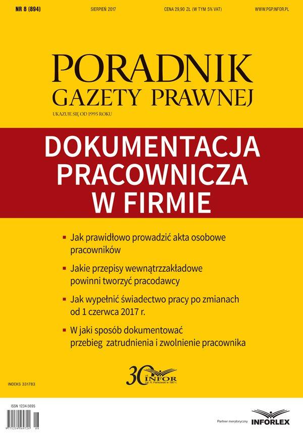 Dokumentacja pracownicza w firmie - Ebook (Książka PDF) do pobrania w formacie PDF