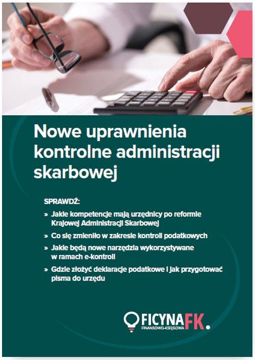Nowe uprawnienia kontrolne administracji skarbowej - Ebook (Książka EPUB) do pobrania w formacie EPUB