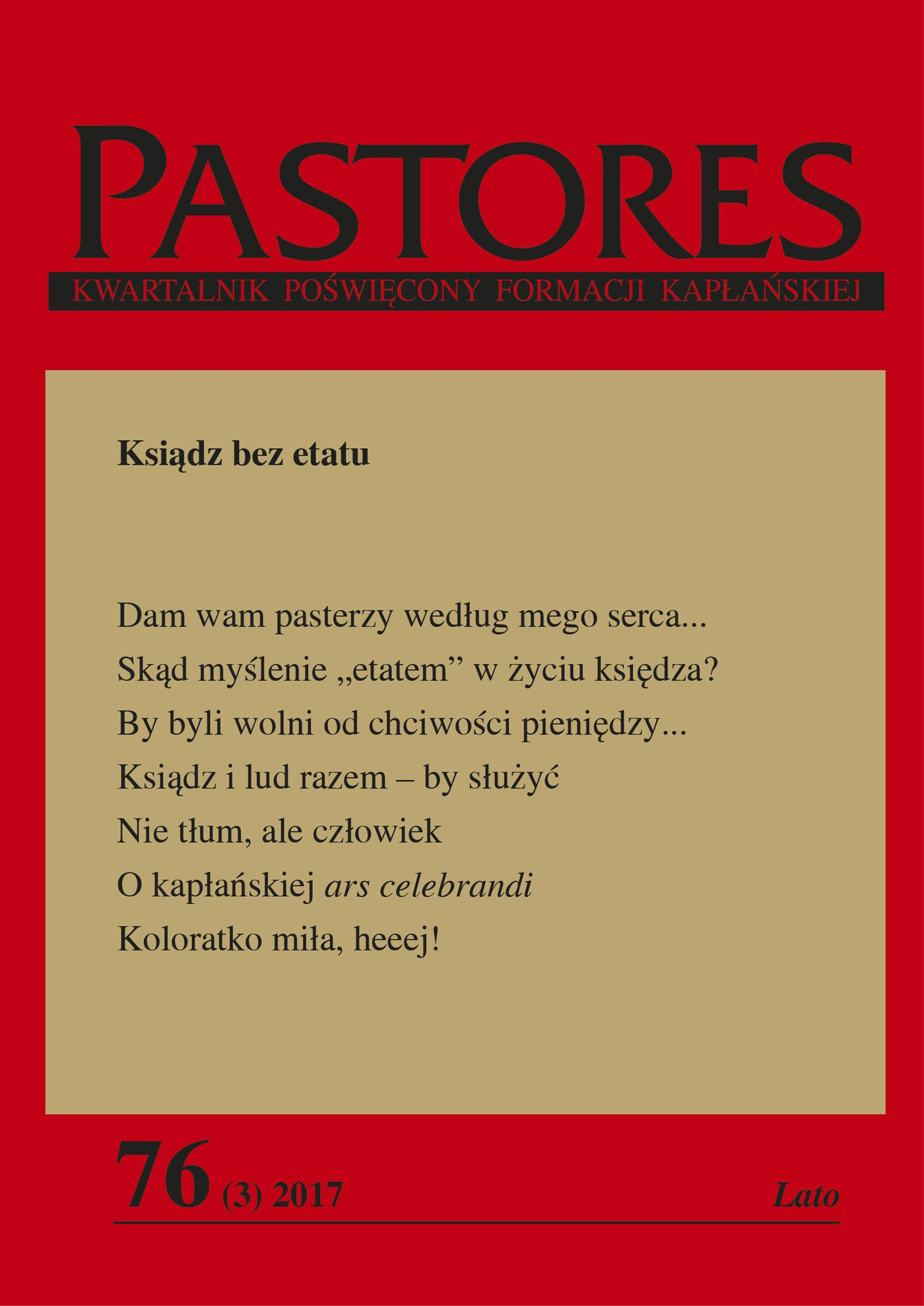 Pastores 76 (3) 2017 - Ebook (Książka EPUB) do pobrania w formacie EPUB