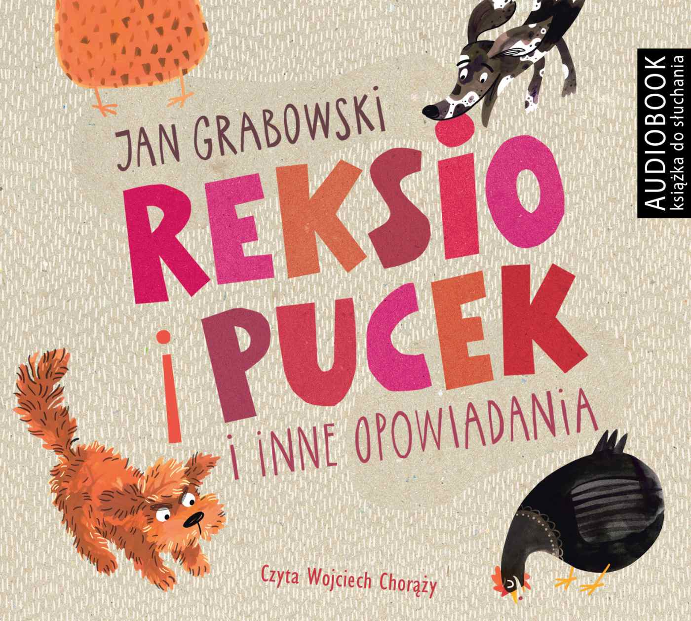 Reksio i Pucek i inne opowiadania - Audiobook (Książka audio MP3) do pobrania w całości w archiwum ZIP
