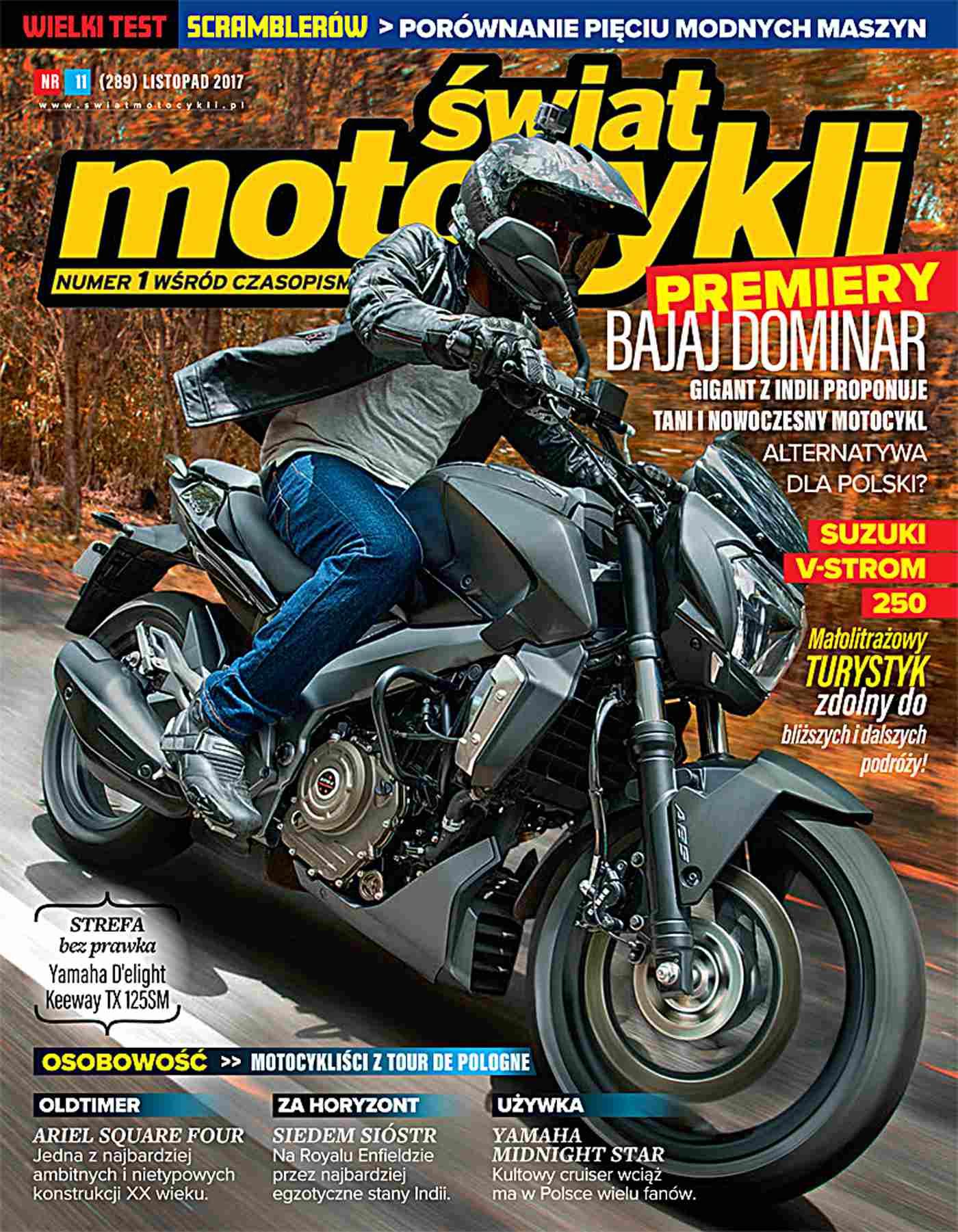 Świat Motocykli 11/2017 - Ebook (Książka PDF) do pobrania w formacie PDF