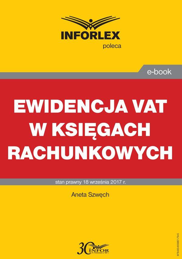 Ewidencja VAT w księgach rachunkowych - Ebook (Książka PDF) do pobrania w formacie PDF