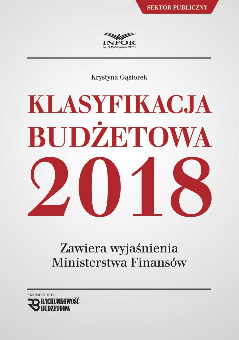 Klasyfikacja budżetowa 2018 - Ebook (Książka PDF) do pobrania w formacie PDF